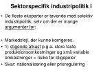 sektorspecifik industripolitik i