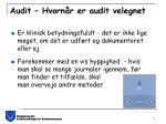 audit hvorn r er audit velegnet1
