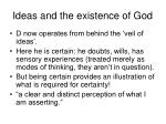 ideas and the existence of god