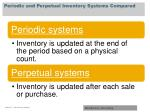 periodic and perpetual inventory systems compared