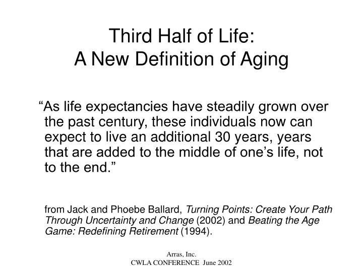 Third Half of Life: