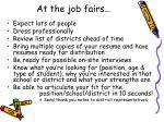 at the job fairs