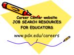 career center website job search resources for educators