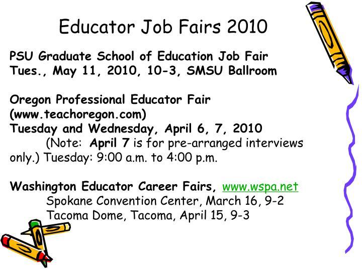 Educator Job Fairs 2010