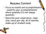 resume content1