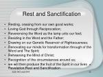 rest and sanctification9