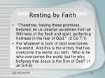 resting by faith