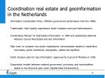 coordination real estate and geoinformation in the netherlands