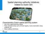 spatial planning authority initiatives related to dutch sdi