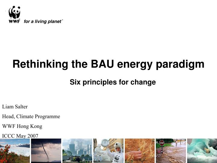 rethinking the bau energy paradigm n.