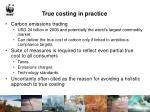 true costing in practice