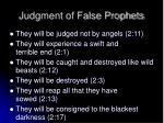 judgment of false prophets