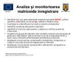 analiza i monitorizarea matriceide nregistrare