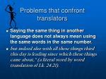problems that confront translators