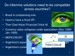 do trilemma solutions need to be compatible across countries