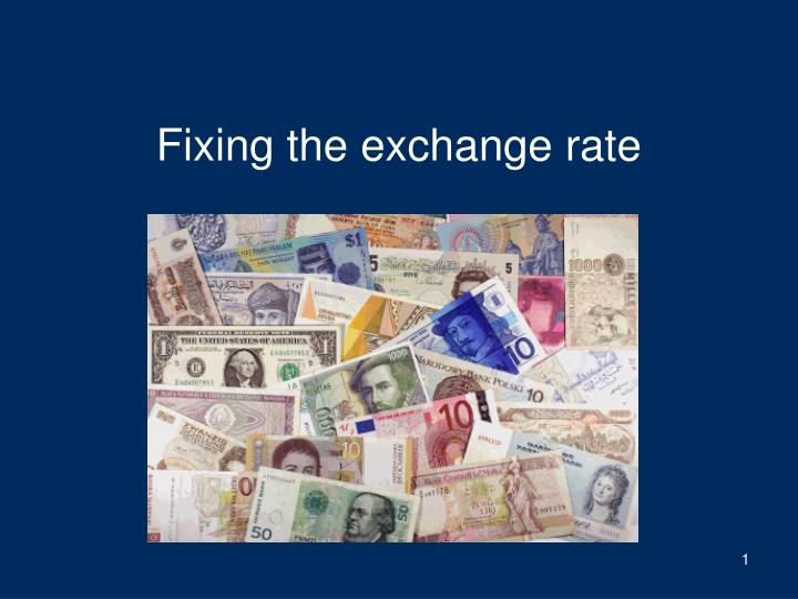 fixing the exchange rate n.