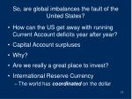 so are global imbalances the fault of the united states