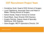 cst recruitment project team