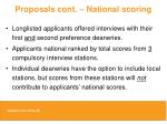 proposals cont national scoring