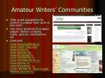 amateur writers communities