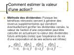 comment estimer la valeur d une action1