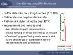 data delivery using dtn techniques