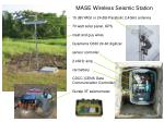mase wireless seismic station