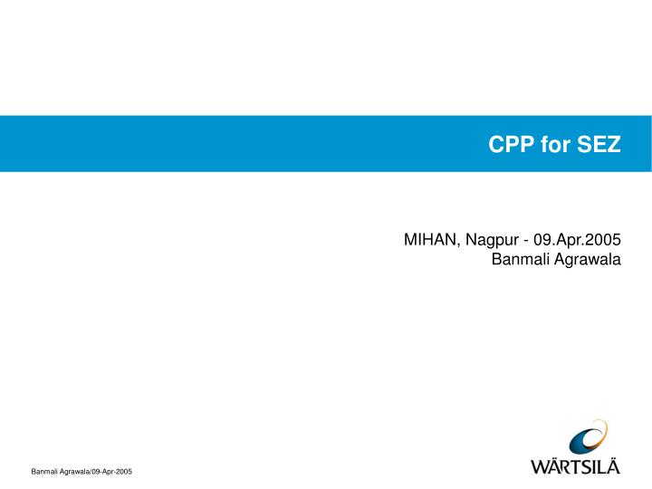 cpp for sez n.