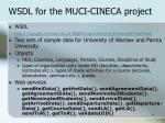 wsdl for the muci cineca project