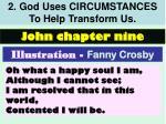2 god uses circumstances to help transform us