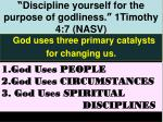 discipline yourself for the purpose of godliness 1timothy 4 7 nasv