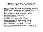effekter p performance