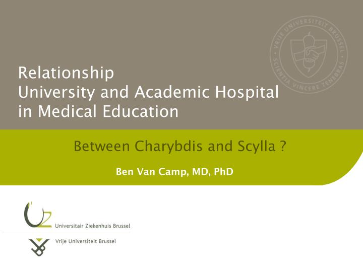 relationship university and academic hospital in medical education n.
