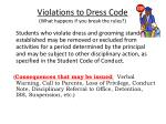 violations to dress code what happens if you break the rules