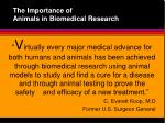 the importance of animals in biomedical research4