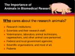 the importance of animals in biomedical research8