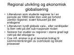 regional utvikling og konomisk globalisering