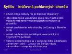 syfilis kr ovn pohlavn ch chor b