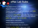 emac lab rules