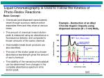 liquid chromatography is used to follow the kinetics of photo redox reactions