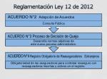 reglamentaci n ley 12 de 2012