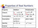 properties of real numbers11
