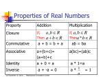 properties of real numbers13