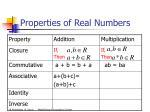 properties of real numbers8
