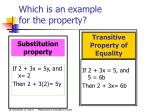 which is an example for the property