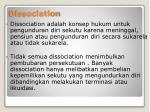 dissociation