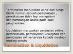 termination liquidation