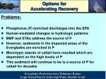 options for accelerating recovery
