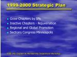 1999 2000 strategic plan