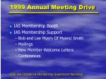 1999 annual meeting drive